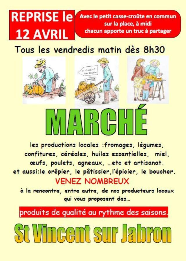 *Reprise du Marché St Vincent 12 AVRIL