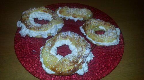 pari brest Crème au beurre praliné+chantilly