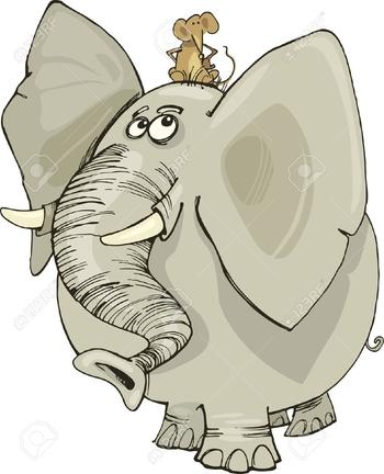 souris et éléphant