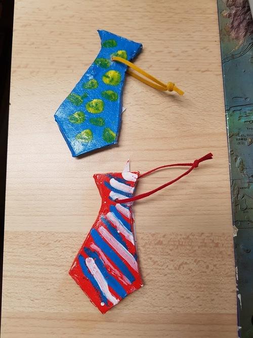 cravate, cadeau fete des peres des MS/GS de M