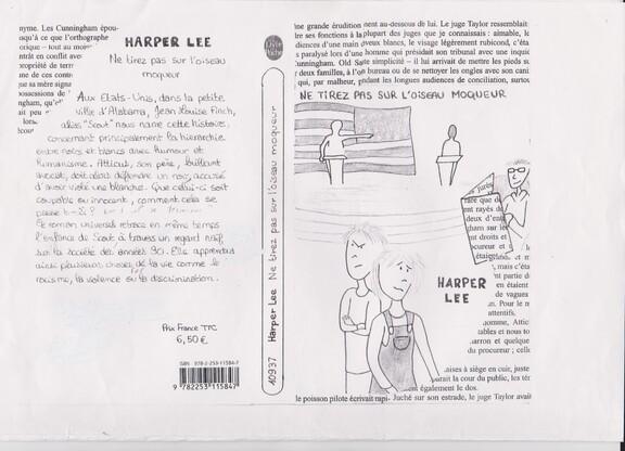 Travaux d'élèves : la couverture de roman.