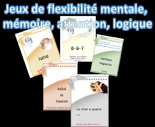 Travailler l'attention et la flexibilité mentale - jeu1