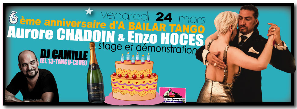★ Attention, demain La PITUCA débute à 22h après le stage d'AURORE & ENZO ★ exposants : No Me Pises (Barcelone) / TangoEtMoi (Aix)