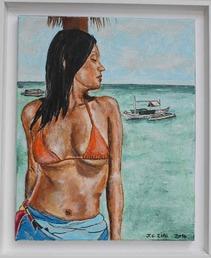 divers tableaux en acrylique effectués en juillet / aout 2014