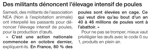 Ouest France du 23 mars 2012