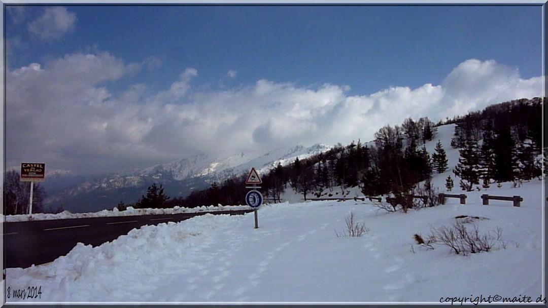 Col de Vergio sous la neige - 8-03-2014