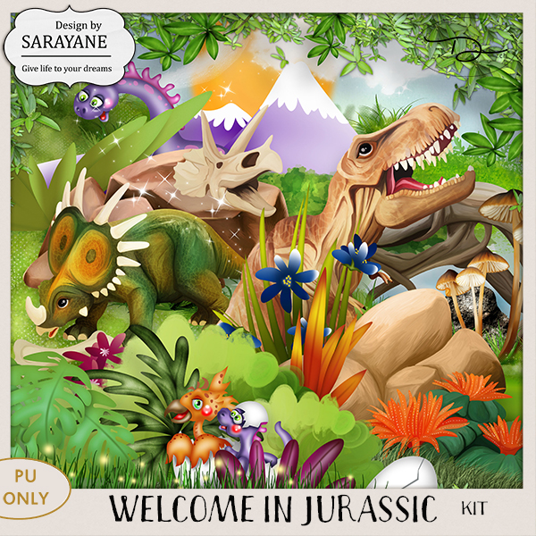 Welcome in Jurassic {Kit PU} by Sarayane