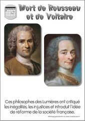 Rousseau et Voltaire