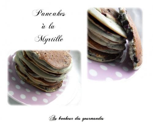 Pancake à la myrtille
