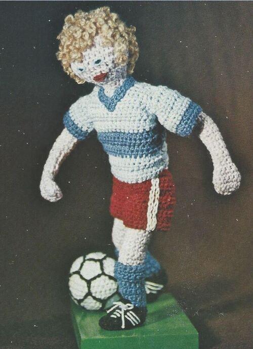 Modèle crochet footballeur