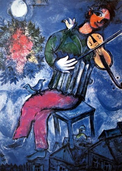 le violoniste bleu Chagall