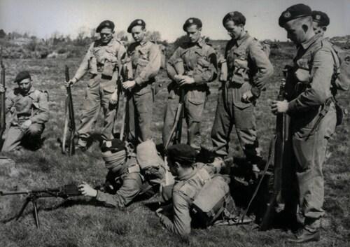 Commandos à l'entrainement :