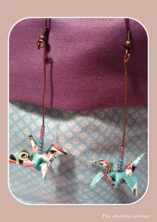 Faire des boucles d'oreilles origami