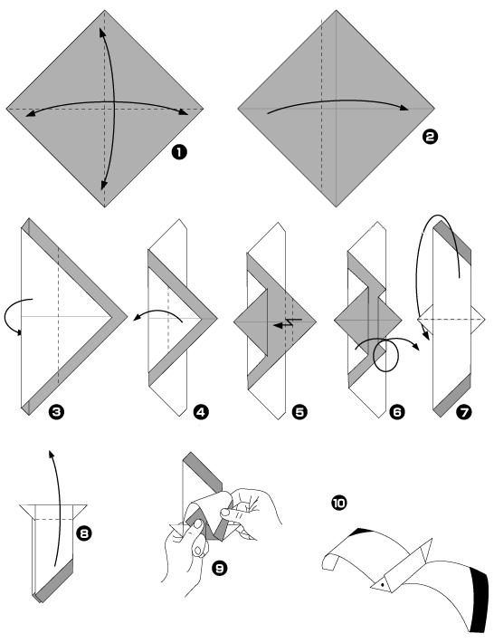 Origami Dune Mouette Les Astuces Delodie