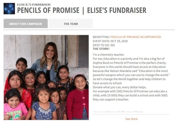 PENCILS OF PROMISE  Elise's Fundraiser  Elise R