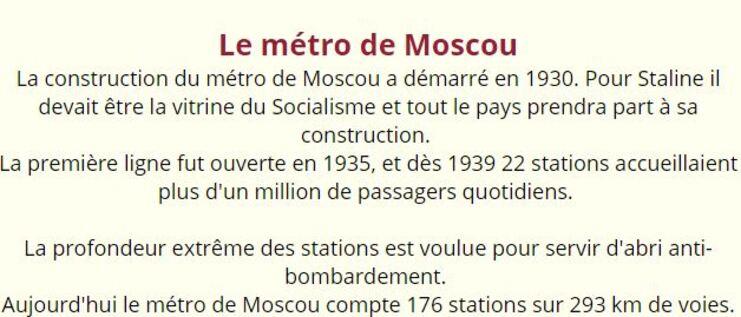 METROS DE MOSCOU