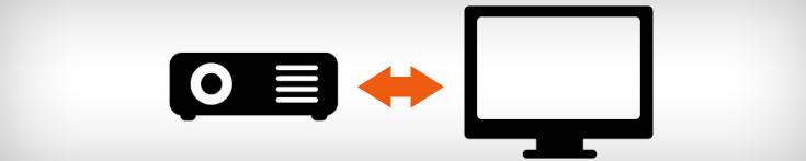 Maîtriser le mode d'affichage entre écran et vidéo-projecteur
