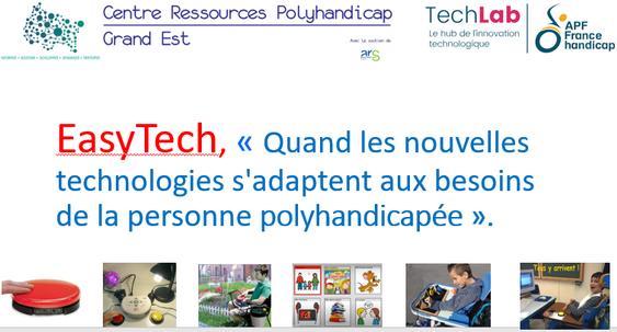 Atelier-Conférence : « Quand les nouvelles technologies s'adaptent aux besoins de la personne polyhandicapée »