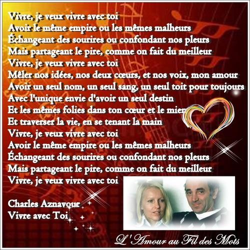 Charle Aznavour, Vivre avec toi