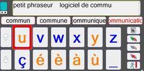 Petit Phraseur : Logiciel de communication alphabétique avec lettres agrandies,  et aide vocale