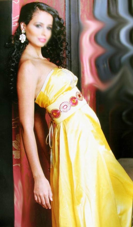 Caftan robe jaune 2014 - KAF S567