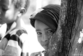 Rencontre en N&B dans le parc du Simien, Ethiopie