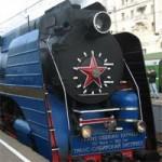 Une locomotive à vapeur du Golden Eagle Transsibérien...