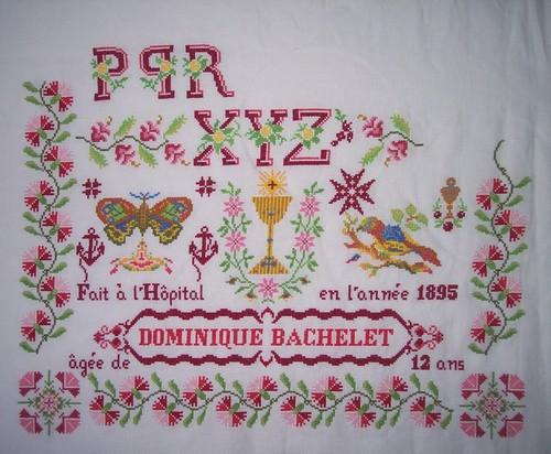 Reflets de soie, Dominique Bachelet 1895, en cours (Karine)