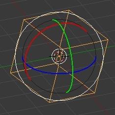 Le cercle blanc des outils de rotation