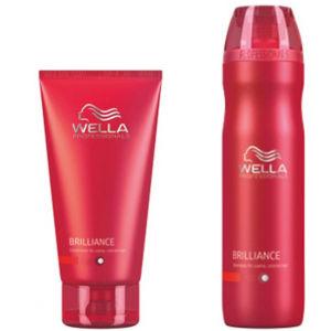 Wella Professionals Brilliance Duo pour Cheveux colorés fins à normaux - Shampooing & Après-shampooing