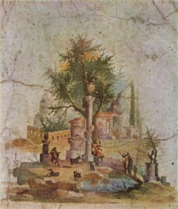 Le tableau du samedi :  le paysage dans l'Antiquité .