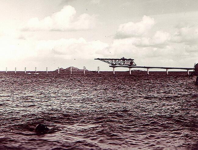 Île de BATZ - Traversée à marée basse avant la construction de l'estacade ... !!!