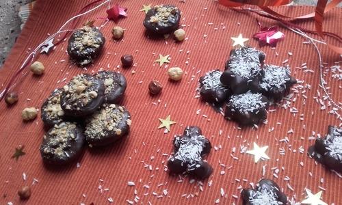 Calendrier de l'Avent #16 Chocolats fourrés à la ganache : Noisettes ou Coco