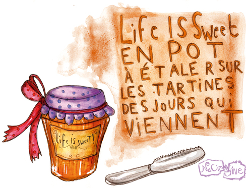 LIFE IS SWEET en pot