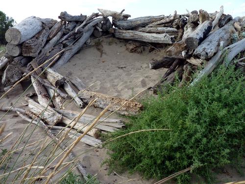 Cabanes sur la plage...