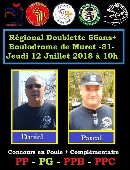 Regional Doublette 55 ans + à Muret -31-