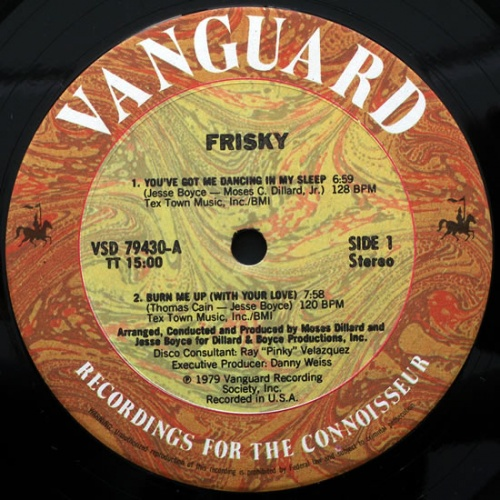 "1979 : Album "" Frisky "" Vanguard Records VSD 79430 [ US ]"