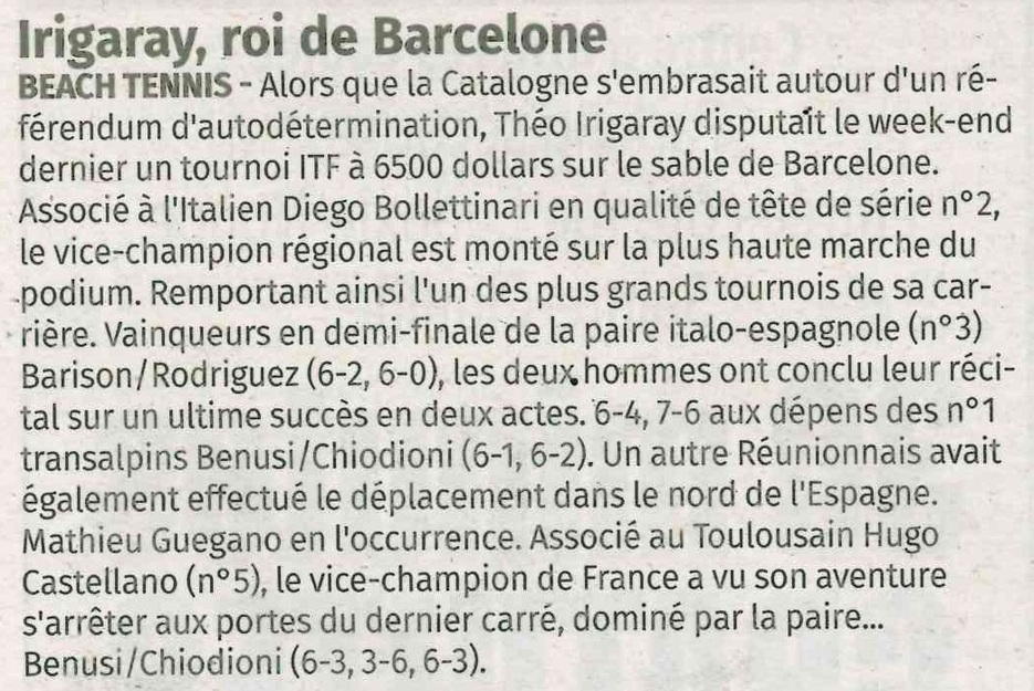 Irigaray, roi de Barcelone