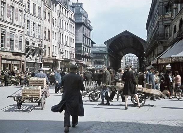 Les Halles, en juillet 1942