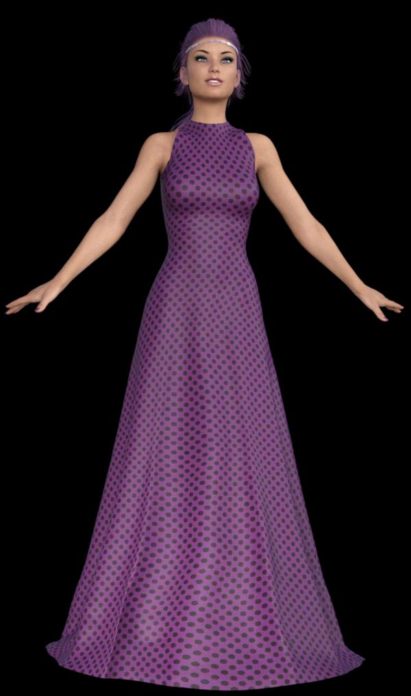 Image femme en robe longue (daz studio)
