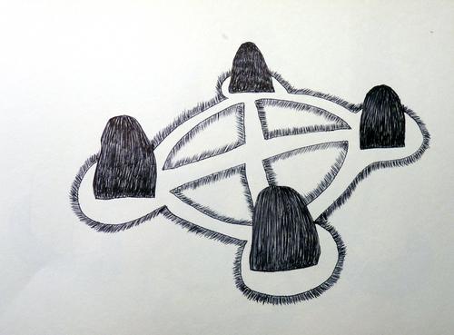 Carnet (dessins d'espaces (4))...