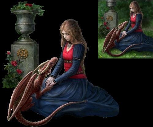 femme et dragon 6