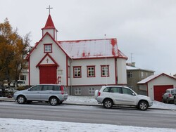 25 octobre, balade dans Akureyri, rencontre franco-islandaise