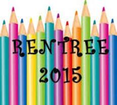 Bonne rentrée 2015!