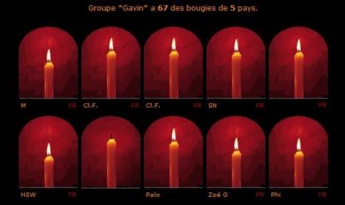 67 bougies 5 pays pour Gavin
