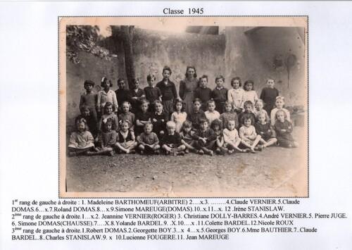Classes de BEAULIEU.... 1892 à 1952