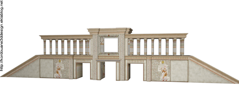 Tube temple Egypte antique (render-image)