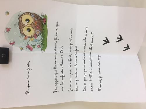 La mascotte de la classe : Lou La Chouette