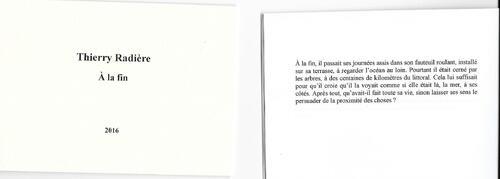 A la fin, Editions La Porte