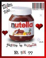 Comme tout le monde, vous adorez le nutella...